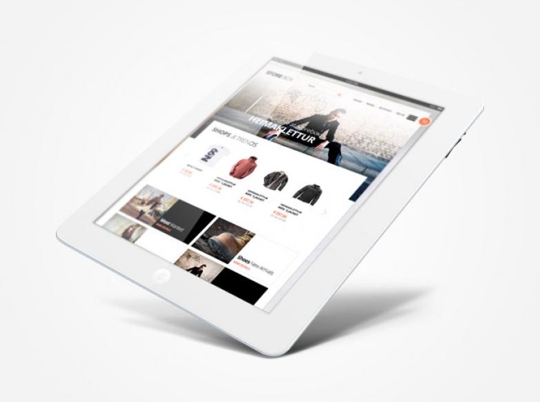 Responsive e-Commerce theme