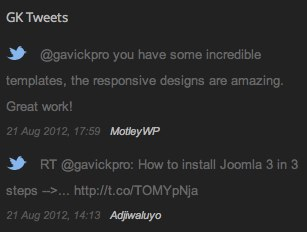 GK Tweets Widget