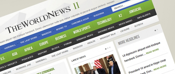 The World News II - Joomla! Template