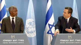 Unresolved conflict between Israelis and Palestinians at the centre